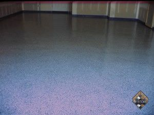 Dolphin Garage Epoxy Coating With Color Chips