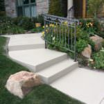 Bone Color Stained Entry Walkway
