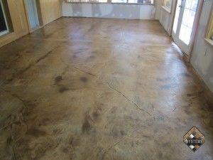 Enclosed Patio Stained Overlay