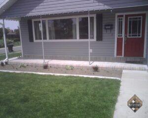 Front Porch Brick Borders