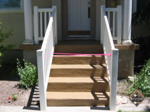 Front Steps New Look Stain