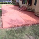 Red Brick Solid Color Stained Patio