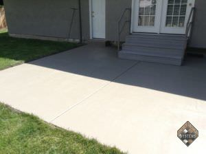 Delta Fog Solid Color Stained Patio