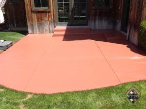 Solid Color Stained Patio Terracotta