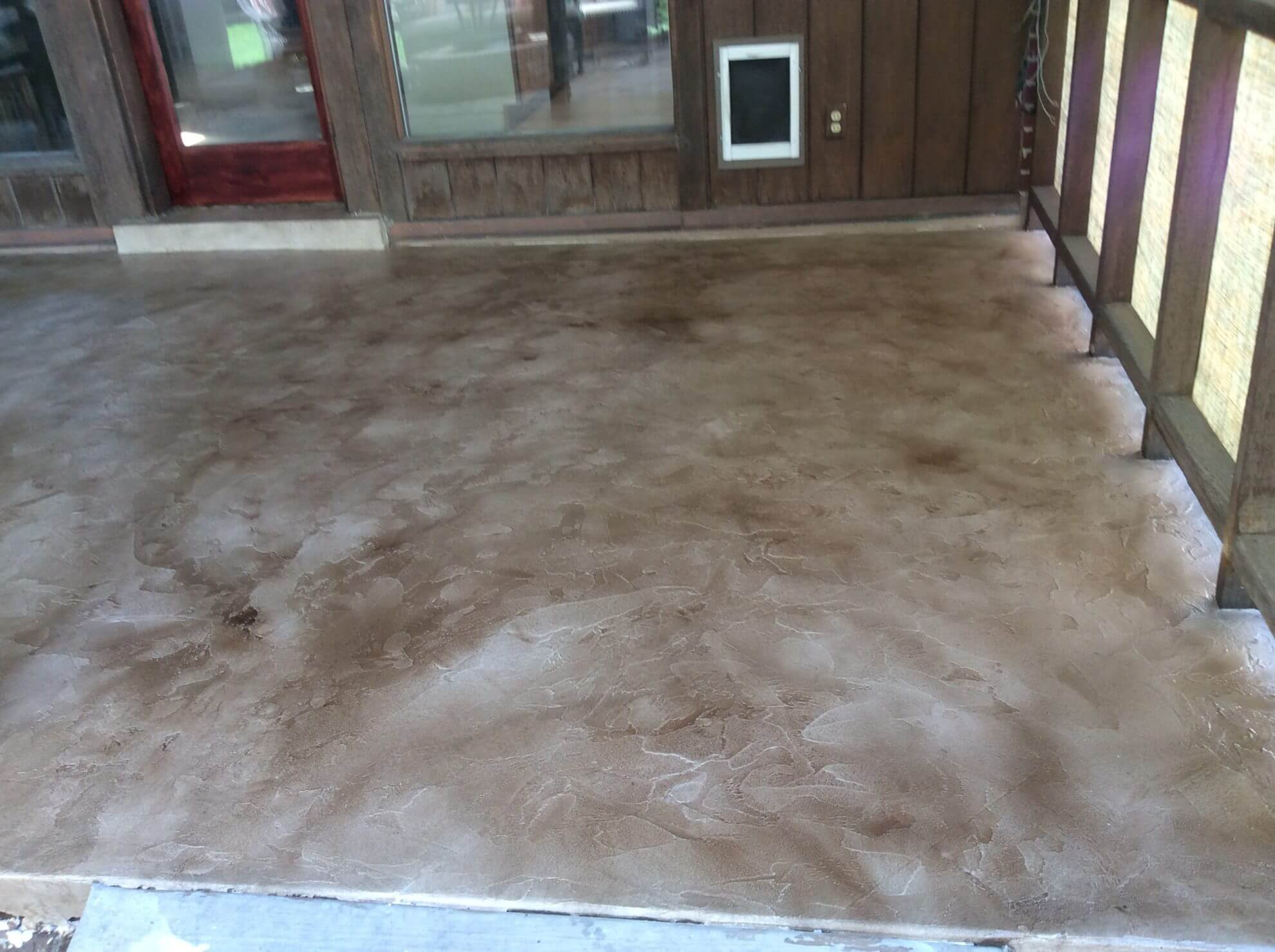Textured Sandstone And Taupe Patio Overlay