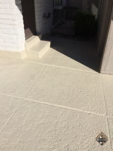 Bone Solid color Stained Patio
