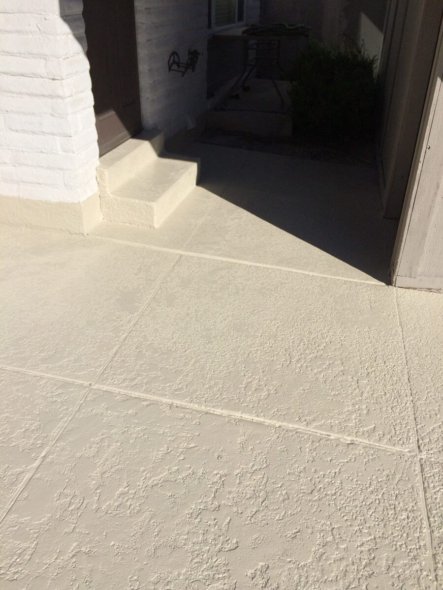 Bone Solid Color Stained Patio Concrete Design Systems Salt Lake