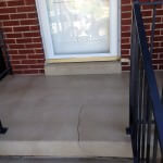Decorative Cracked Rock Overlay Porch