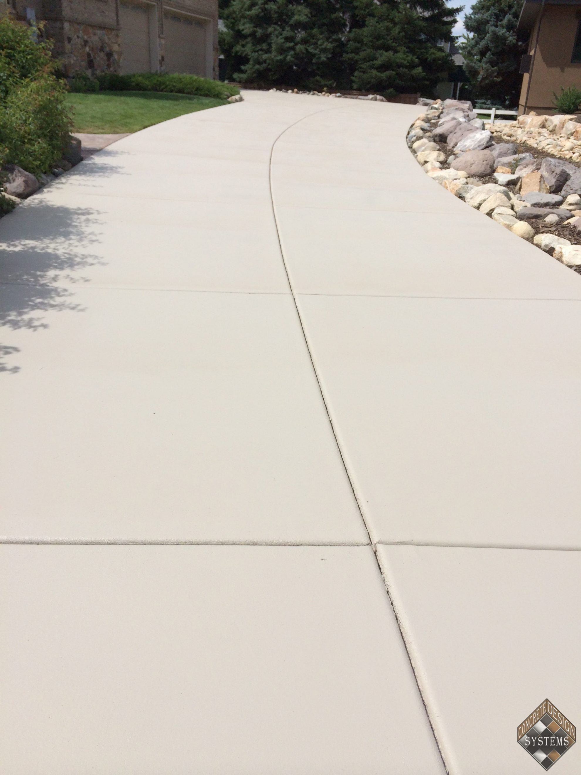 Bone Solid Color Stained Driveway Concrete Design Systems Salt