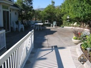 Patio Acid Stained Concrete