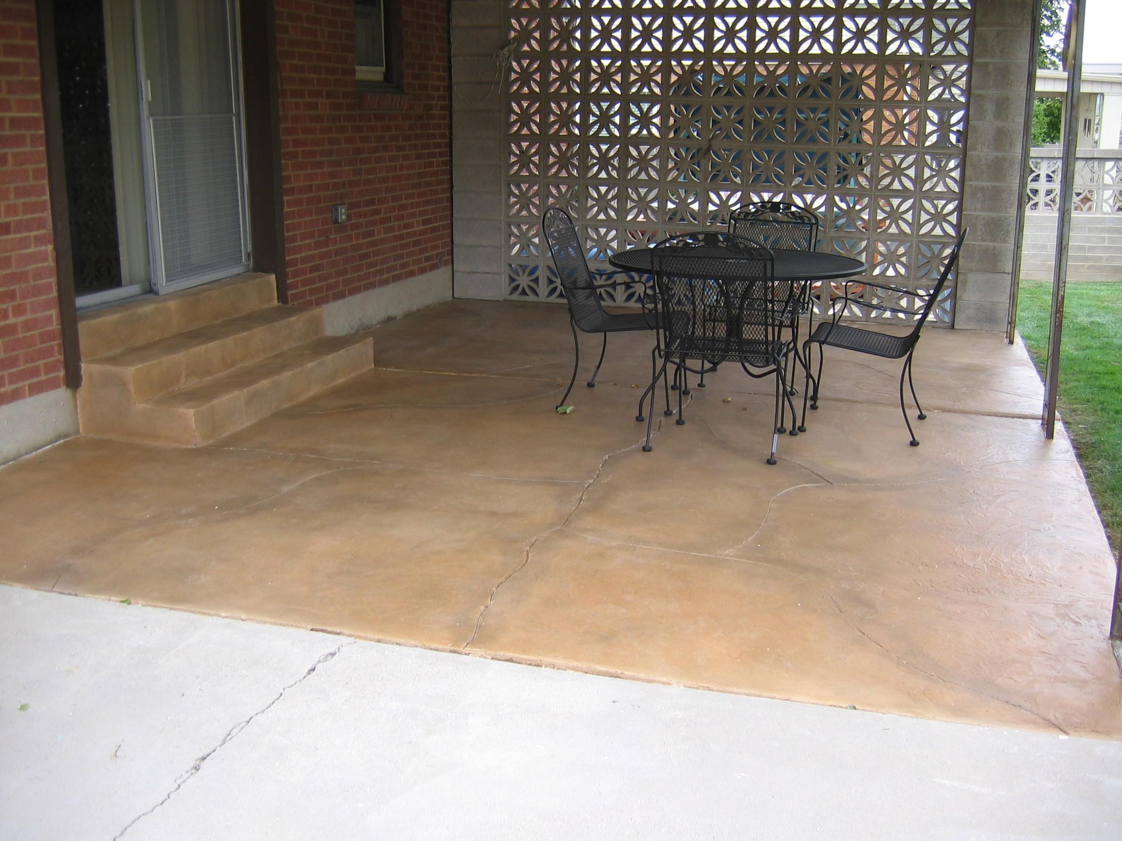 Patio Cracked Pattern Concrete Design Systems Salt