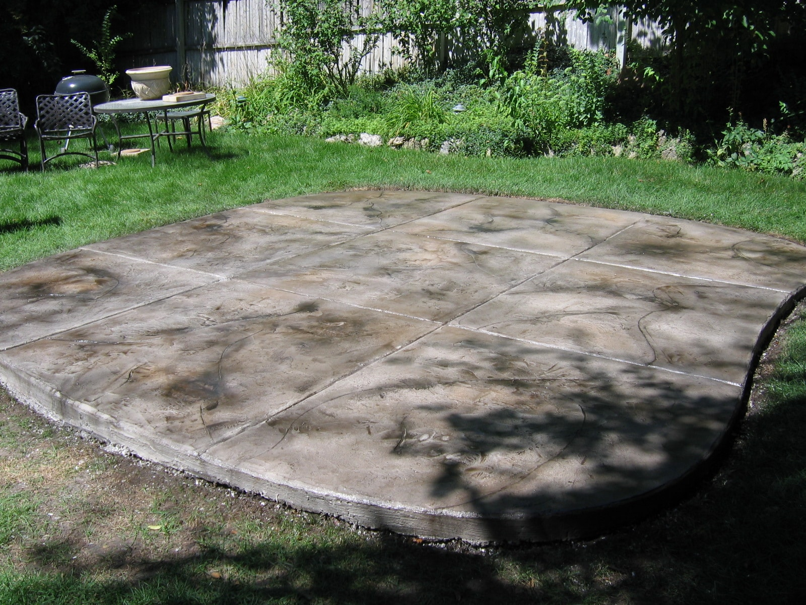 Patio Cracked Rock Color Stained Concrete Design Systems