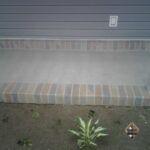 Porch Cap Brick Pattern