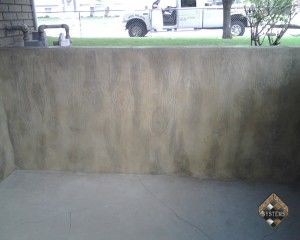 Retaining Wall Wood Stamped Overlay