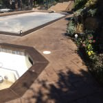Renewed Color Stained Pool Deck With Tique