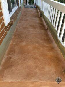 Decorative Sand Stone Overlay Porch