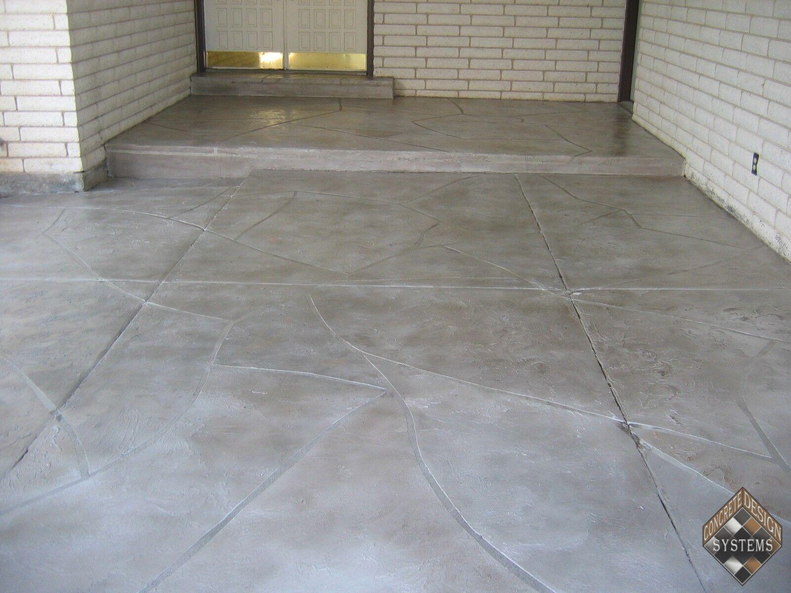Slate Gray Stone Entry Concrete Design Systems Salt