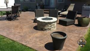 Restored Stamped Cracked Rock Patio