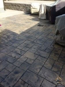 Random Block Stamped Pattern