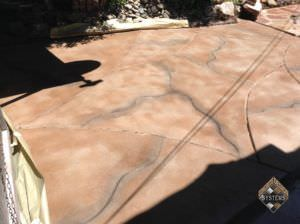 Taupe/Gray Cracked Rock Designed Patio