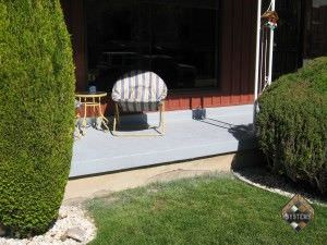 Sterling Gray Solid Color Stained Porch