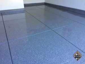 Dolphin Gray Epoxy With Black/White Chips