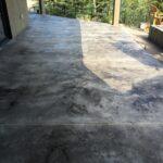 Gray Textured Concrete Overlay