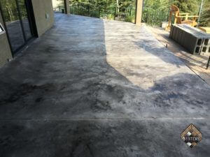 Gray Textured Concrete Overlay