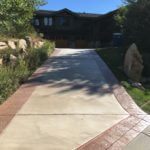 Two-Tone Color Stained Driveway 1