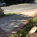 Two-Tone Color Stained Driveway