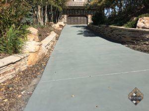 Colored Concrete Sealer Over Overlay