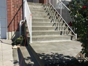 Plain Gray Resurfaced Front Entry Steps