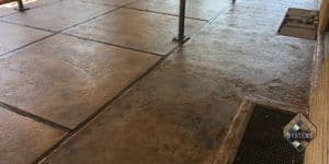 Cherokee Acid Stained Patio Overlay With Stonehenge Highlights