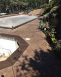 Ash Brown/Saddle Cloth Color Stained Pool Deck