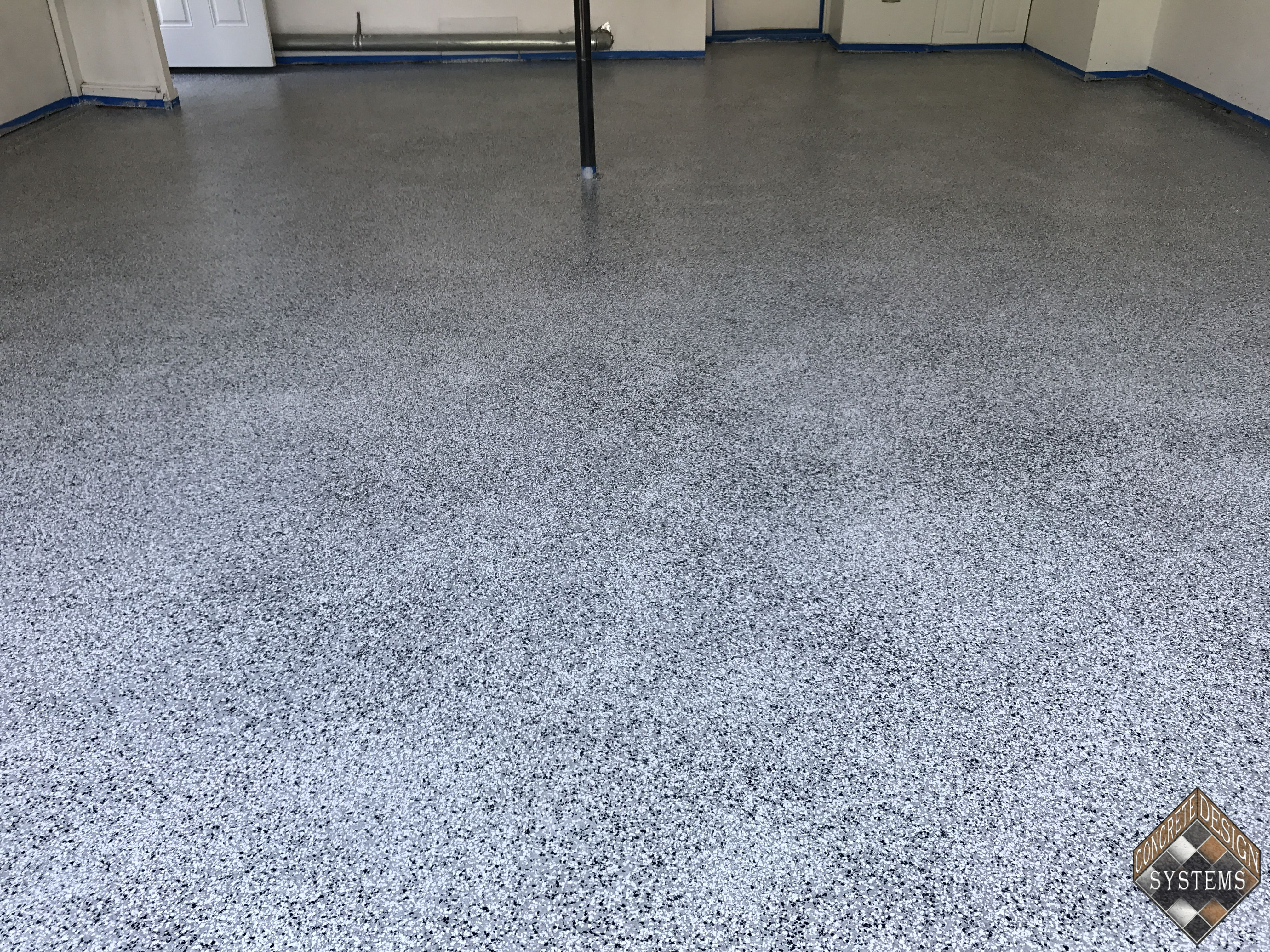 Light Gray Epoxy With Color Chips 3 Concrete Design