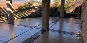 Customized Cracked Concrete Patio